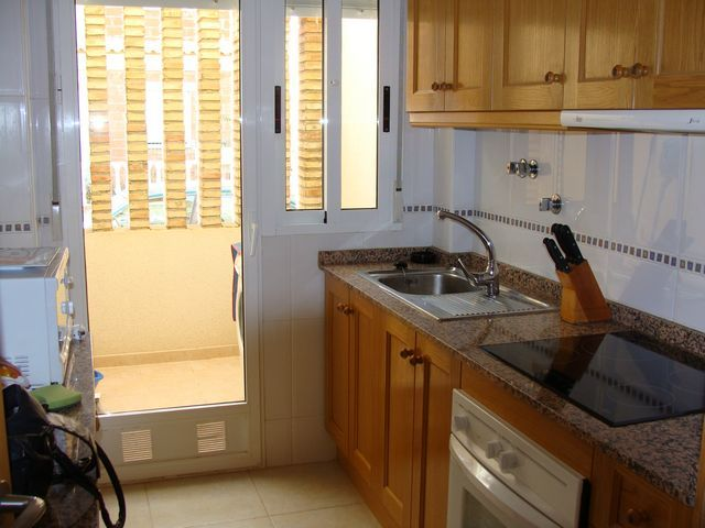 Kitchen with white goods included
