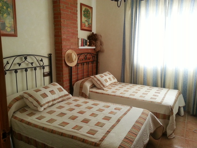Twin bedroom of the apartment in Garrucha