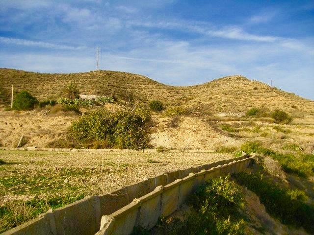 Blick auf das dorf aus dem lande in Antas