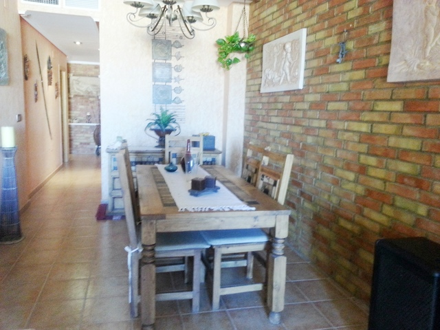 Dining room of the apartment in Garrucha