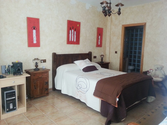 Master bedroom of the apartment in Garrucha