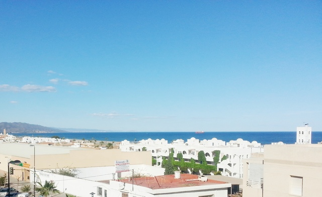 View from the terrace of the apartment in Garrucha