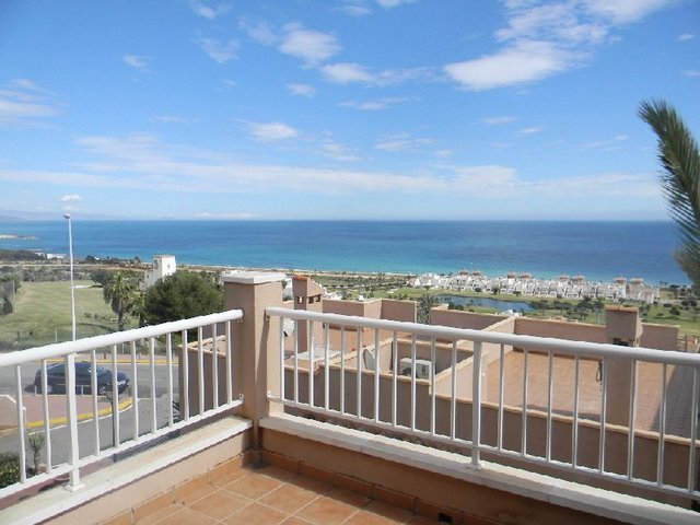 Stunning sea views from the apartment in Mojacar