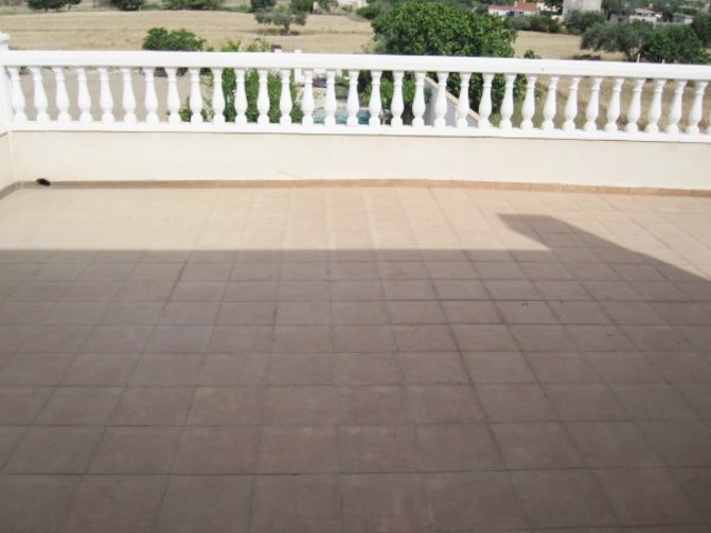 Large terrace of the villa in Turre