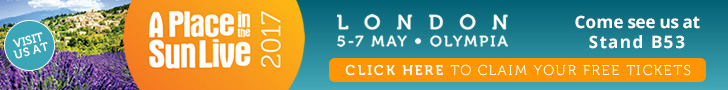 Spanish Property Choice; Free Ticket to A Place in the Sun Homes Exhibition 5-7 of May, London, Olympia
